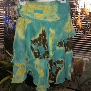 Anne Klein Silk Tiered Skirt size 4